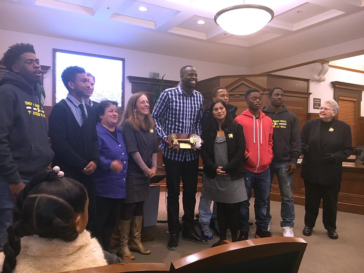 """Emeryville's """"Adopted Son"""" Draymond Green presented the ..."""